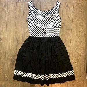 BERNIE DEXTER Black/White Polka Dot Dress (G7)